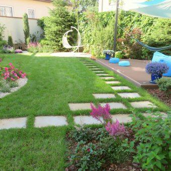 Nowoczesny ogród rodzinny – Wilanów