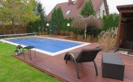 Ogród z basenem Konstancin (1)