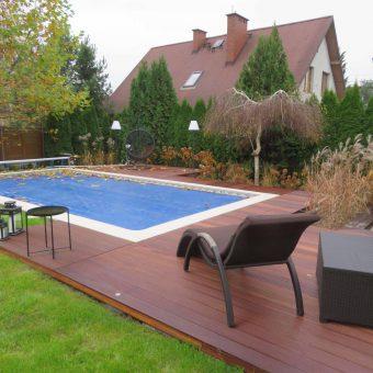 Nowoczesny ogród z basenem – Konstancin
