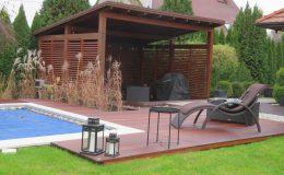 Ogród z basenem Konstancin (2)