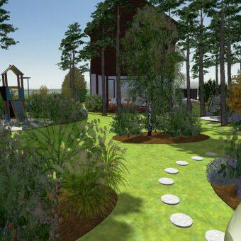 Wizualizacja ogrodu – Józefów