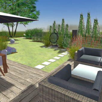 Wizualizacja ogrodu – Stuletnia