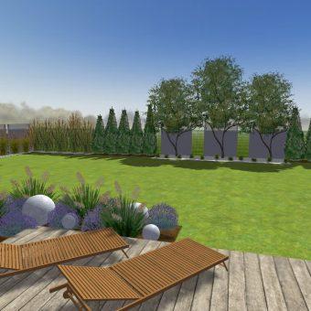 Wizualizacja ogrodu – Wilanów