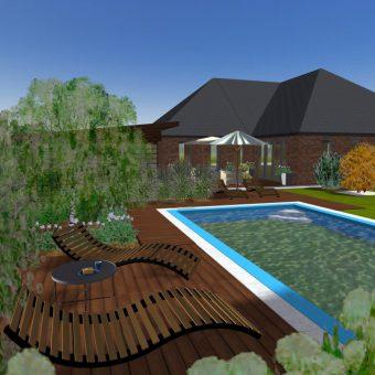 Wizualizacja projektu przy basenie
